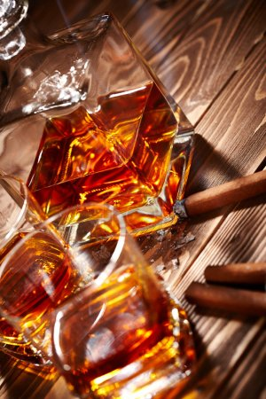 Cognac with cigars