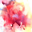 Bright watercolor colorful background with spots o...