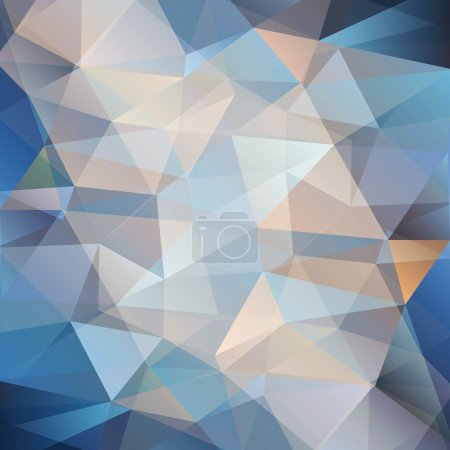 Photo for Beautiful colorful abstract background with blue triangle - Royalty Free Image