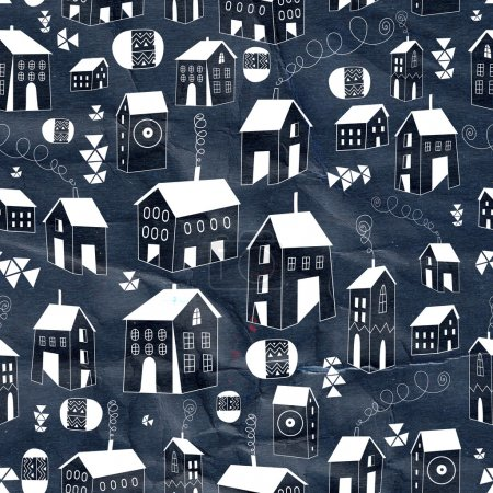graphic texture houses