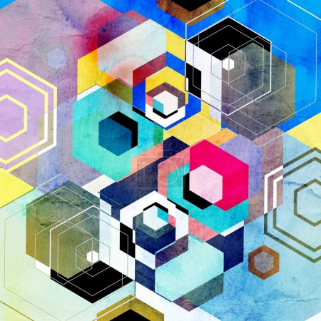 Bright abstract geometric background
