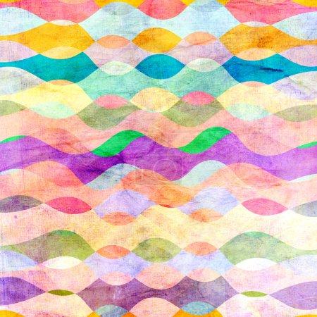 Photo pour Aquarelle fond coloré abstrait éléments géométriques - image libre de droit
