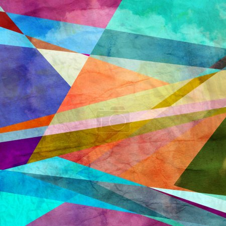 Abstract colorful background of geometric elements...