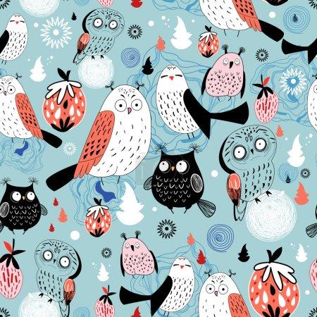 Texture mysterious owl