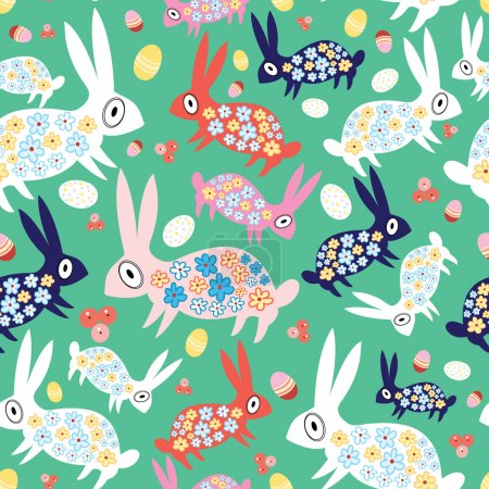 texture colorful bunnies