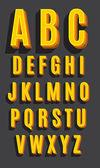 Vector retro type font Vintage alphabet