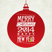Merry Christmas and happy new year greeting card typographic design vector