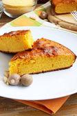 Cake with corn flour