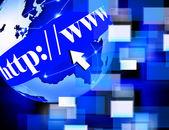 Www svět Internetu pozadí