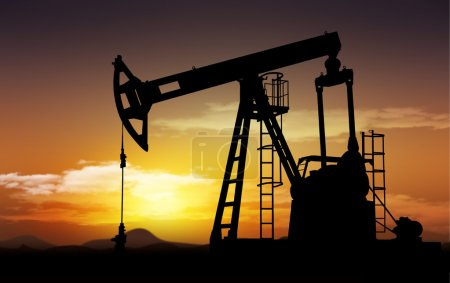 Photo for Oil field and oil pump extraction - Royalty Free Image