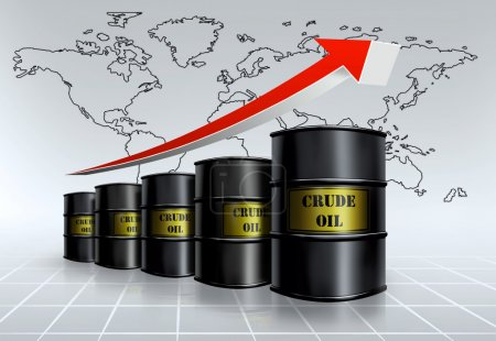 Photo for Crude oil growing price - Royalty Free Image
