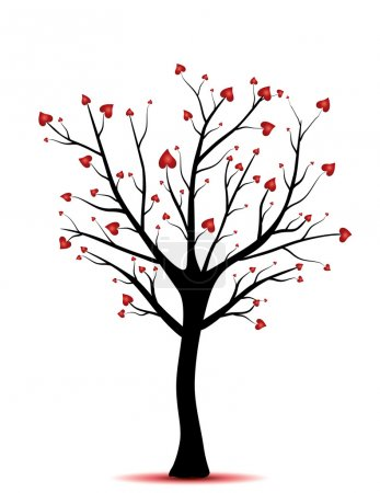 Photo for Tree with hearts - Royalty Free Image