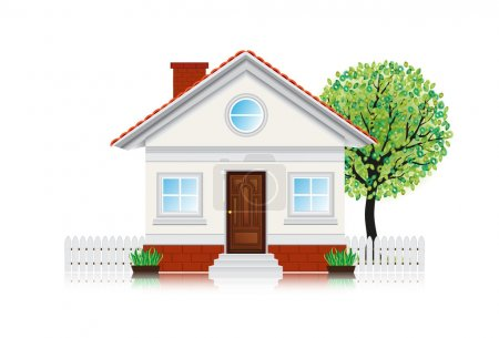 Photo for Cute icon house - Royalty Free Image
