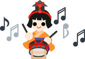 Japanese celebrate the Girls' Festival on March 3 It's the day to pray for healthy growth and happiness for young girls This is the doll of musician playing the small drum