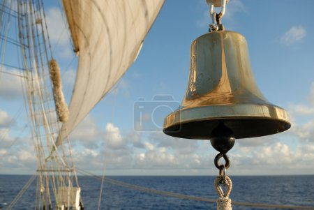 Marine bell and sails