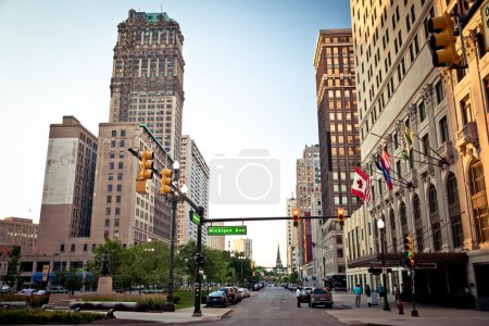 Photo for View of abandoned downtown of Detroit, Michigan - Royalty Free Image