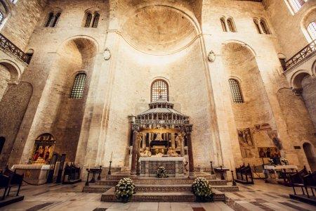 The Basilica of Saint Nicholas,in Bari, Italy