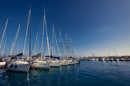 Small group of ship yachts