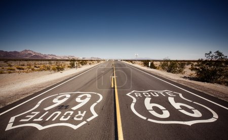 Photo for Famous Route 66 landmark on the road in Californian desert - Royalty Free Image