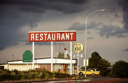 Restaurant sign along Route 66