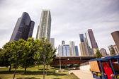"Постер, картина, фотообои ""вид города Чикаго"""