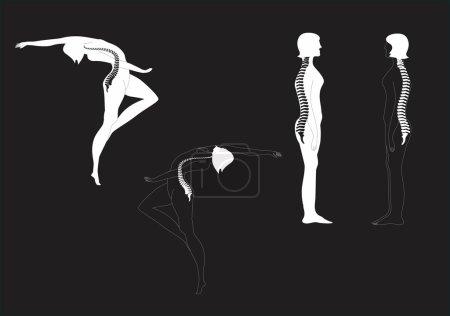Figures of dancing woman