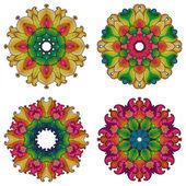 Set of four mandalas