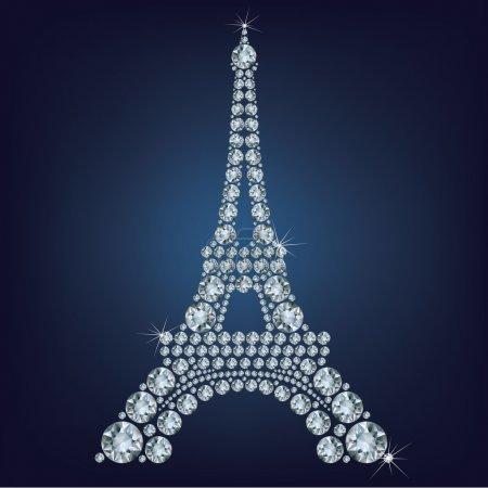 Eiffel tower - Paris made up a lot of diamonds
