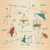 Mathematics - geometric shapes and expressions sketches