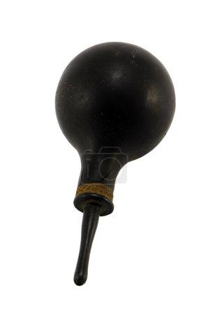 Photo pour Vintage rétro outil de traitement de constipation lavement clyster isolé sur fond blanc - image libre de droit