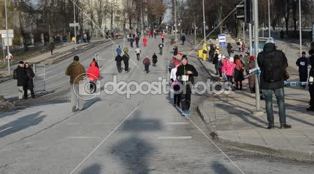 Spusťte vánoční santa claus maraton dovolená sportovních událostí