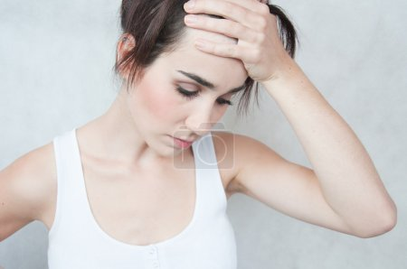 Photo for Woman with sad expression - Royalty Free Image