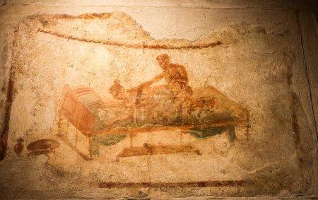 Ancient fresco in Pompeii