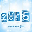Happy New Year 2015 Blue Greeting Card