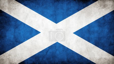 The Scottish flag...
