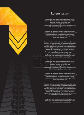 Special flyer with tire design