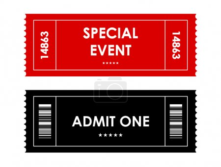 special red-black event ticket