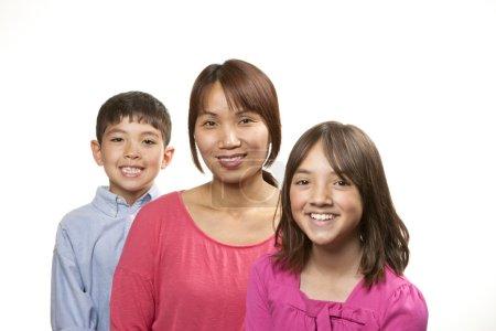 Photo pour Portrait d'un sourire, tricot proche famille. - image libre de droit