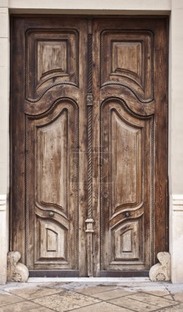 Photo for Ancient enter door on old street - Royalty Free Image