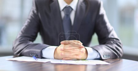 Photo for Businessman working with documents in the office - Royalty Free Image