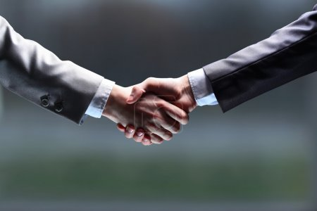 Photo for The businessman. Hand for a handshake. The conclusion of the transaction. - Royalty Free Image