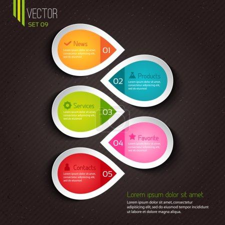 Illustration pour Conception infographique pour entreprises - image libre de droit