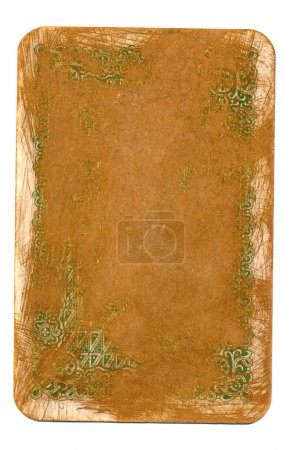Ancient playing card used  cover paper background