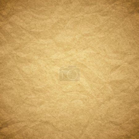 Photo pour Texturé emballage obsolète froissé fond de papier brun ou texture - image libre de droit