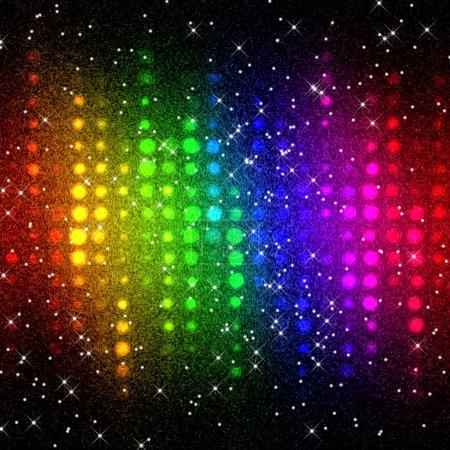 Photo pour Fond de mosaïque abstraites lumières disco multicolores - image libre de droit