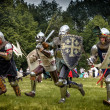 CHORZOW,POLAND, JUNE 9: Charge of the medieval kni...