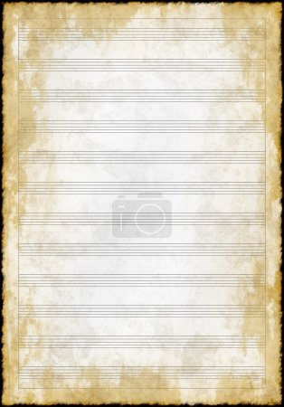 Old grunge blank music paper