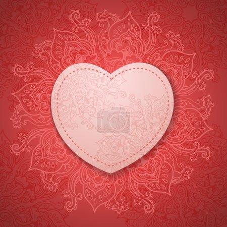 Photo pour Carte cadeau. La Saint Valentin. Heureux le cadre la Saint Valentin. Saint-Valentin fond - image libre de droit
