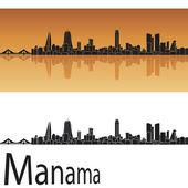 Manama skyline in orange background