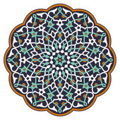 Arabic circular pattern over white background in editable vector file